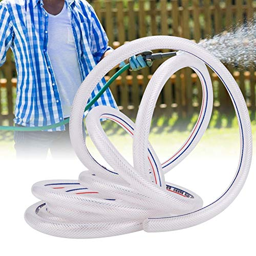 Manguera transparente de PVC Manguera de PVC de 8/12 mm, Manguera de riego de PVC, Tubo flexible, Manguera transparente para riego de jardines industriales y agrícolas(8 meters)