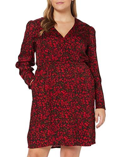 Comma Damen Kleid kurz, Rot (31A9), 44