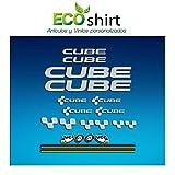 Ecoshirt GZ-J5C1-93ND Pegatinas Cube UCI Vinilo Adesivi Decal Aufkleber Клей MTB Stickers Bike