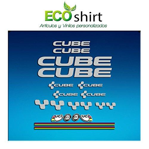 Ecoshirt GZ-J5C1-93ND Aufkleber Cube UCI Vinyl Sticker Abziehbilder MTB