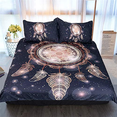 3-Piece Microfiber Duvet Cover Suitable For Bedding With Hotel, Bedroom, Sofa 2 Envelope Pillow Cases