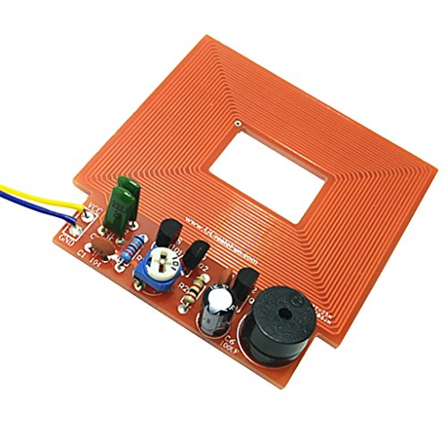 Milageto 3 5V Metalldetektor Kit Elektronische DIY Metalldetektor Teilesicherheitsprüfung