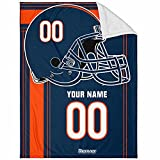 Denver Plush Throw Blanket Custom Any Name and Number for Men Women Youth Gifts