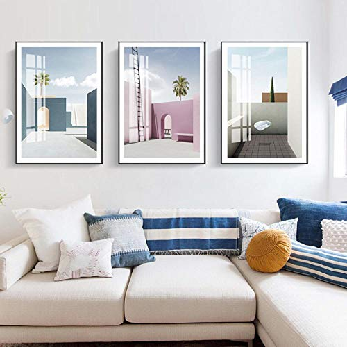 LMQLXM Sofa Hintergrund Wandmalerei modernen Stil Morandi dekorative Malerei Sofa malen einfache Atmosphäre Wohnzimmer Schlafzimmer Nacht Kristallmalerei