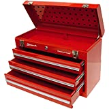 Homak Industrial 20-Inch 3-Drawer Friction Toolbox, Red Powder Coat, RD00203200