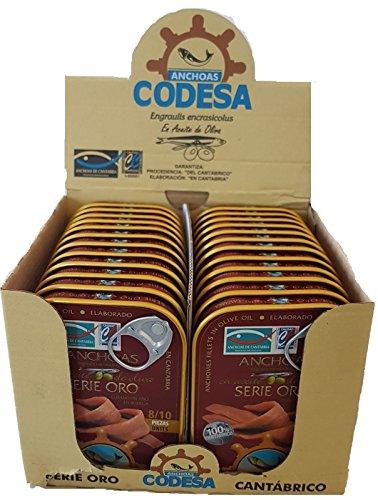 Codesa Sardellenfillets Gold Serie 8/10 Anchovis 55 Gramm [PACK 24 Einheiten]