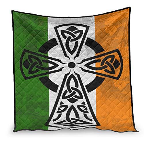 BBOOUAG Edredón con diseño de cruz irlandesa para aire acondicionado, suave edredón de estilo nórdico, ajuste para sofá, el mejor regalo para amigos, blanco 150 x 200 cm