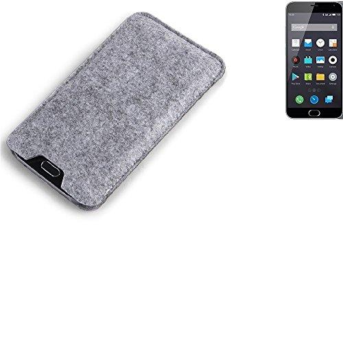 K-S-Trade® Per Nokia 130 Dual SIM Custodia Feltro per Cellulare Custodia Morbida Protettiva Sacchetto Protezione Manica Astuccio Copertina Grigio per Smartphone Nokia 130 Dual SIM