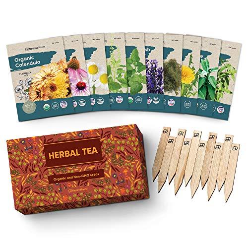 Herbal Tea Seeds Variety Pack - 10 Medicinal Herbs Seed Packets -...