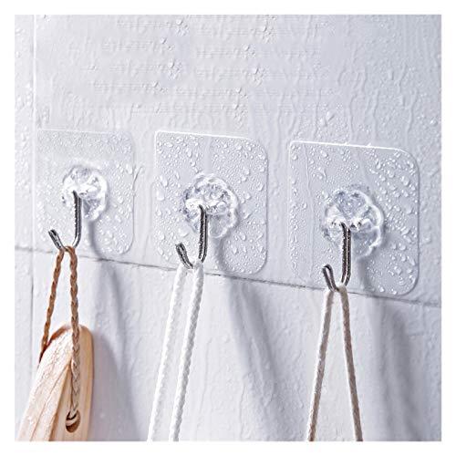 Ganchos Magnéticos 12 unids / lote transparente fuerte auto adhesivo gancho mágico utensilios de cocina almacenamiento estante de pared colgador de pared cocina accesorios de baño Toalleros De Gancho