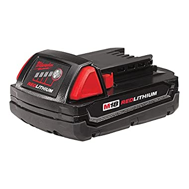 Milwaukee M18 48-11-1815 Compact 18V 1.5 Amp Hour Red Lithium Ion Battery w/Onboard Fuel Gauge