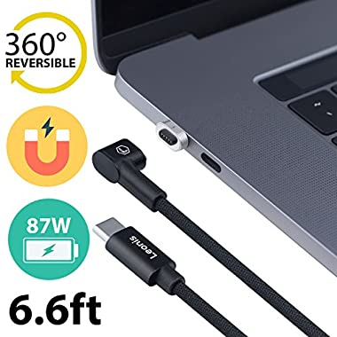 Magnetic Charger – Magsafe Magnetic Adapter – Macbook Pro USB C Charging Cable – like Griffin Breaksafe Cable – Magnetic Type C Macbook Pro Cable – Apple USB C Charger – Nintendo Switch Power Cable