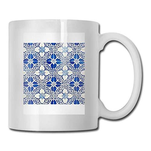 N\A Vasos Cerámicos Azulejos Azules Código 330ml