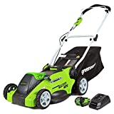 Greenworks 40V 16-inch Cordless Lawn Mower, 4.0 Ah Battery and Charger Included 25242