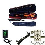 STENTOR バイオリン SV-180 4/4 と チューナー・肩当・替弦のセット