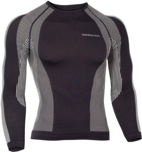 Webster's Functionele Ademend shirt met lange mouwen Thermisch ondergoed Ski-ondergoed – Snowboarden/Skiën Motorfiets Fietsen/Joggen – Unisex