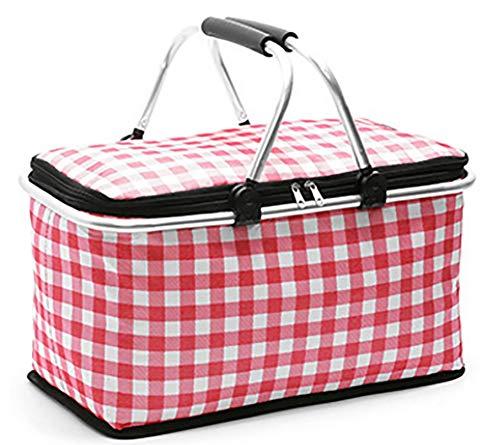 Portable chauffe-panier portable thermique sacs à lunch pour les femmes hommes multifonction grande capacité de stockage sacs fourre-tout aliment pique-niquer sac isotherme,White