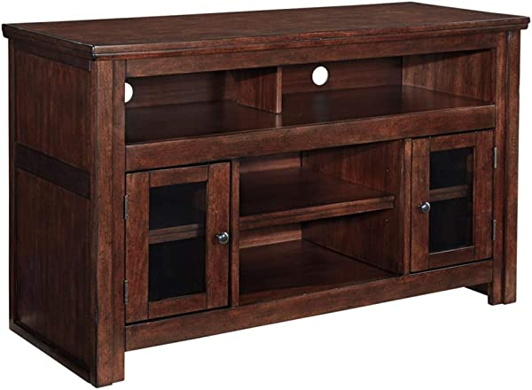 Ashley Furniture Signature Design Harpan TV Stand 50 In Traditional Style Brown