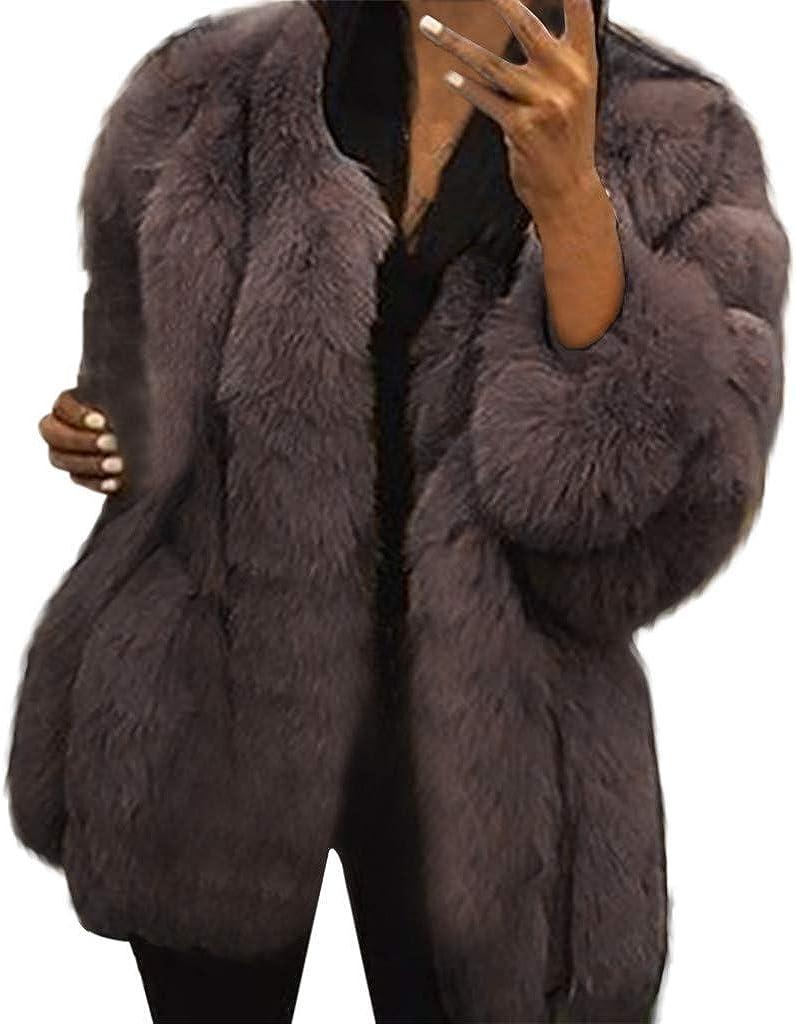Womens Long-awaited Coat Faux Fur Mink Camel Winter Jacket Parka Ranking TOP19 Down Fa