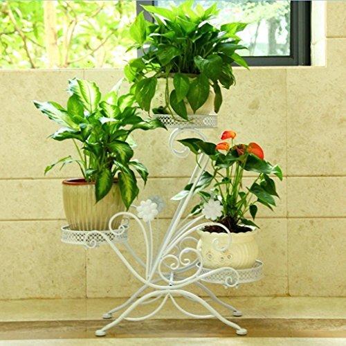 &Présentoir Stand de fleur Européenne Fleur de fer Stand Type de plancher Balcon Multicouche Intérieur Fleur Pot Rack ( Couleur : A )