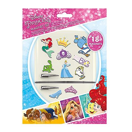 Juego de imanes para nevera con diseño de Princes de Disney, 18 piezas, auténticos
