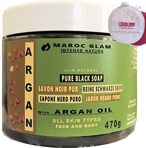 Peeling - Sapone nero marocchino con olio di ARGAN...