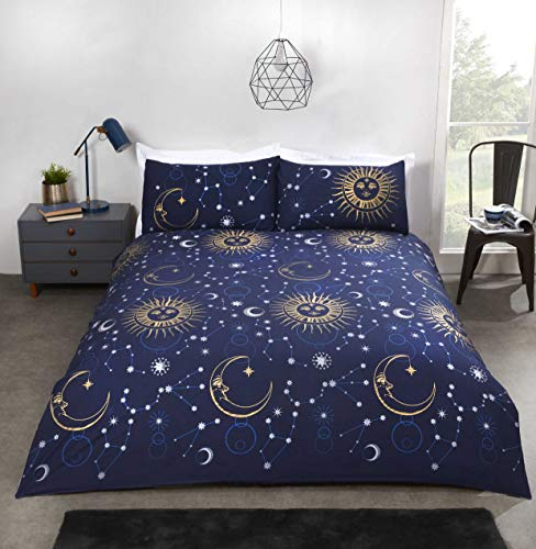 Rapport Celestial Duvet Cover Bed Set, Navy, Double