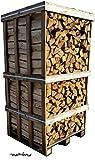 mumba® 900 kg Birkenscheite Brennholz Kaminholz Birke sauber auf der
