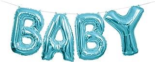 """Unique Party Air Filled 'Baby' Foil Balloon, Blue, 35cm (14"""")"""