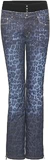 Bogner Women's Malena Leopard Ski Pant 1155-4288 426 - Denim Leopard Print - Size EU 38 US 8 Medium