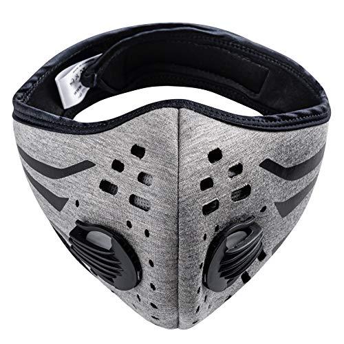 MFAZ Morefaz Ltd nti Staub/Smog/Wind Maske Unisex Radfahren Staubdichtes Sport-Atemschutzgerät Gesichtsmaske Laufen Staubfilter Masken (Stripes Grey)