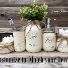 Mason Jar Bathroom Set-Bathroom Decor-Housewarming