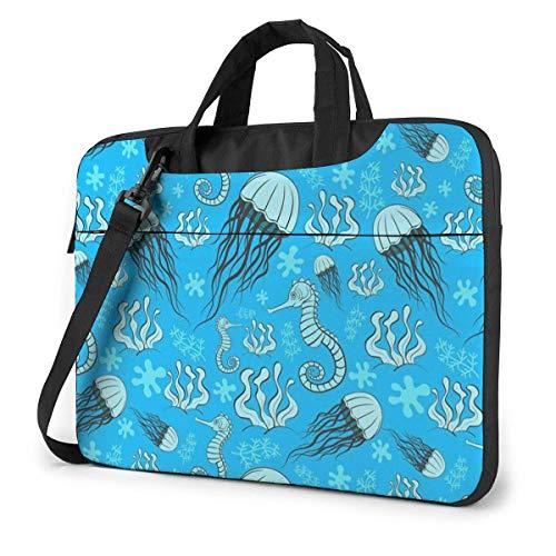 Jellyfish Sea Horse Unisex Laptop Bag Messenger Shoulder Bag for Computer Briefcase Carrying Sleeve