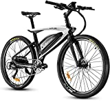 eAhora APUS 26in Carbon Fiber Electric Mountain Bike 48V Urban Electric Bikes for Adults Hydraulic Brakes, 14AH Removable Battery, Upgrade 350W Motor, USB Port Password Display, 9-Speed Gear