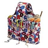 Akkem - Bolsa de lana para el almacenamiento de lana, bolsa de almacenamiento de lana de viaje para ganchillo, agujas de tejer, peluches de hilo y proyecto sin terminar