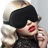Antifaz para Dormir, 3D Antifaz para Dormir para Mujeres y Hombres, Diseño de Ranura Tridimensional 3D 15mm, Espuma Viscoelástica, Tela de Licra, Banda Elástica Ajustable, Presión Cero en Ojos