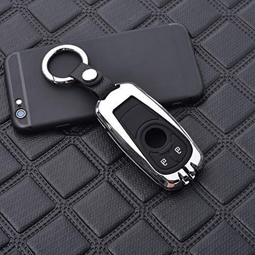 NoBrand Coque de clé, Porte-clés de clé de Voiture en Alliage de Zinc en silice pour Buick pour Opel Astra J Corsa Zafira StylingKey Protection Accessoires de Voiture, H, Argent