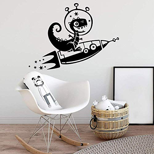 Klassieke dinosaurus raket zelfklevende vinyl behang slaapkamer kleuterschool decoratie muurschildering poster baby sticker 57 * 69cm