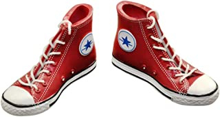 """ELECTROPRIME 1/6 Red Lace Up High Top Canvas Shoes Sneakers for 12"""" HOTTOYS Male Figure"""