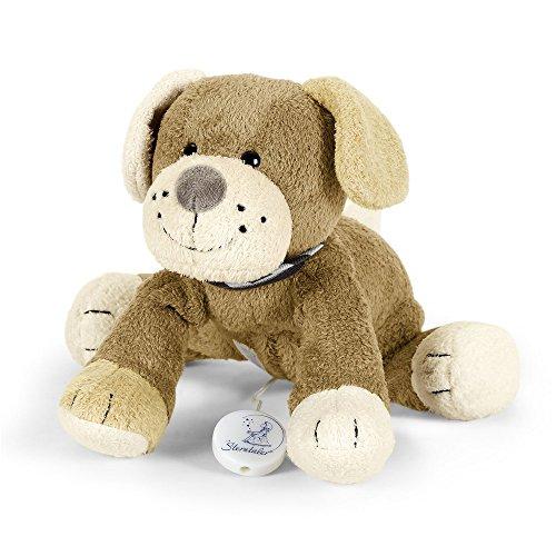 Sterntaler Spieluhr, Stofftier Hund Hanno, Austauschbares Spielwerk, Größe: M, Braun