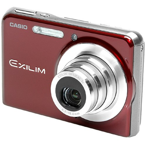 Casio EXILIM Card EX-S 880RD - Cámara digital (auto, manual, Película, Imagen única, Presentación de diapositivas, 1/2.5', 6,2 - 18,6 mm, auto, Flash desactivado, Reducción de ojos rojos, 848 x 480 Pixeles)