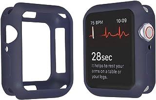 Apple Watch Series 5 Series 4 44mm/40mm ケース, 全面保護 耐衝撃 ソフトTPUウォッチケースシンプルファッション第4世代、第5世代のApple Watchに最適(44mm, 深蓝色)