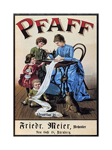 Vintage PFAFF Sewing Machine Vintage AD Art Print Picture F12X1705