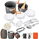 Limechoes 16 Pcs Camping Cookware Set Stove Canister Stand Tripod Outdoor Hiking Picnic Non-Stick...