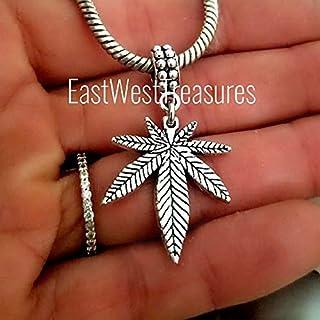 Weed pot Marijuana leaf leaves stoner Charm Bracelet Necklace Keychain - Jewelry Gift for Men Women