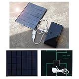 RiToEasysports Cargador Solar Power Bank portátil con Doble USB Cargador de batería a Prueba de Agua para teléfonos Inteligentes y tabletas 3.5W 6V