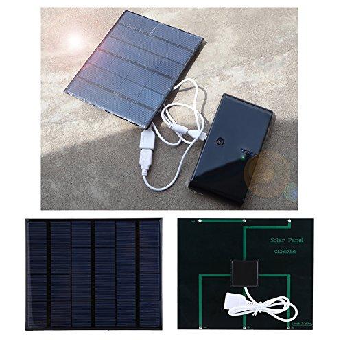 Vbestlife 3.5W 6V Solar Charger Faltbares Solarladegerät für den Außenbereich mit Sun Power Solar Panels Dual USB