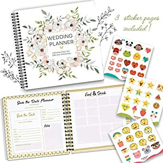 The Perfect Wedding Planner & Organizer with Stickers. A Complete 80-Pages Hardcover Checklist Planner to Guide You throug... photo