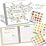 The Perfect Wedding Planner & Organizer with Stickers. A Complete 80-Pages Hardcover Checklist Planner to Guide You through Every Step of Your Dream Wedding. From your Engagement Reception till 'I Do'