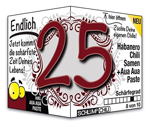 Endlich 25 - das witzige Geburtstagsgeschenk für junge Männer und Frauen :)